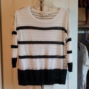 LOFT Black and white sweater